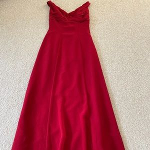 Belsoie Red 100% Polyester Formal Size Sleeveless